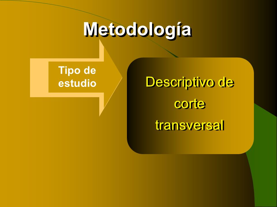 Descriptivo de corte transversal