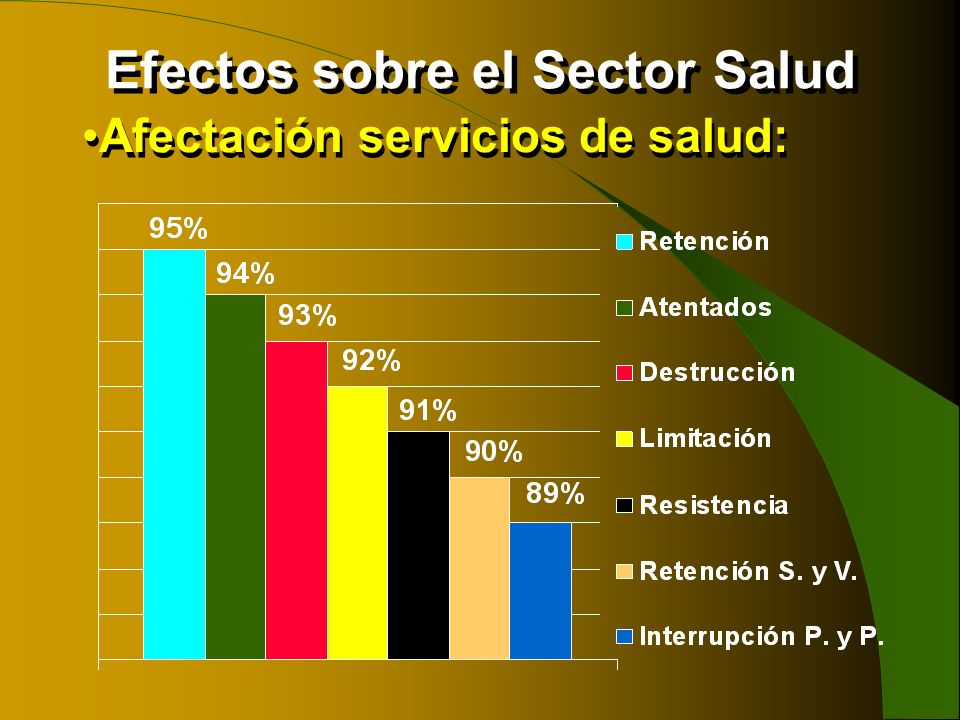 Efectos sobre el Sector Salud