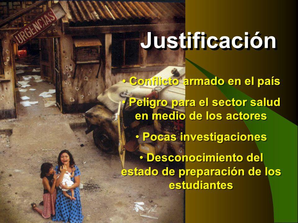 Justificación Conflicto armado en el país