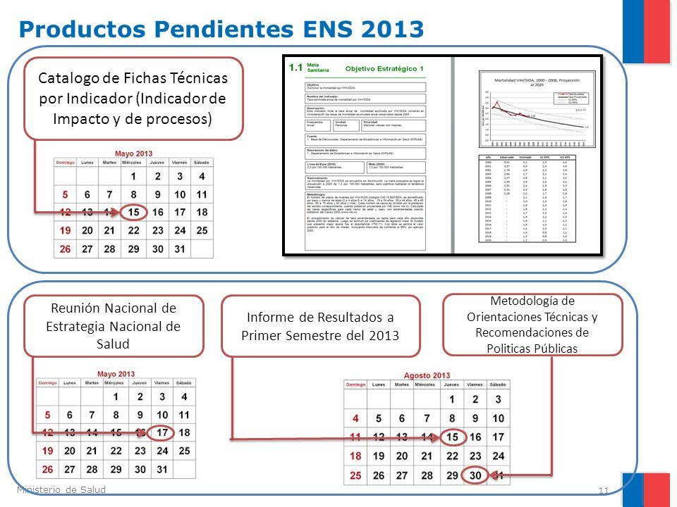 Productos Pendientes ENS 2013