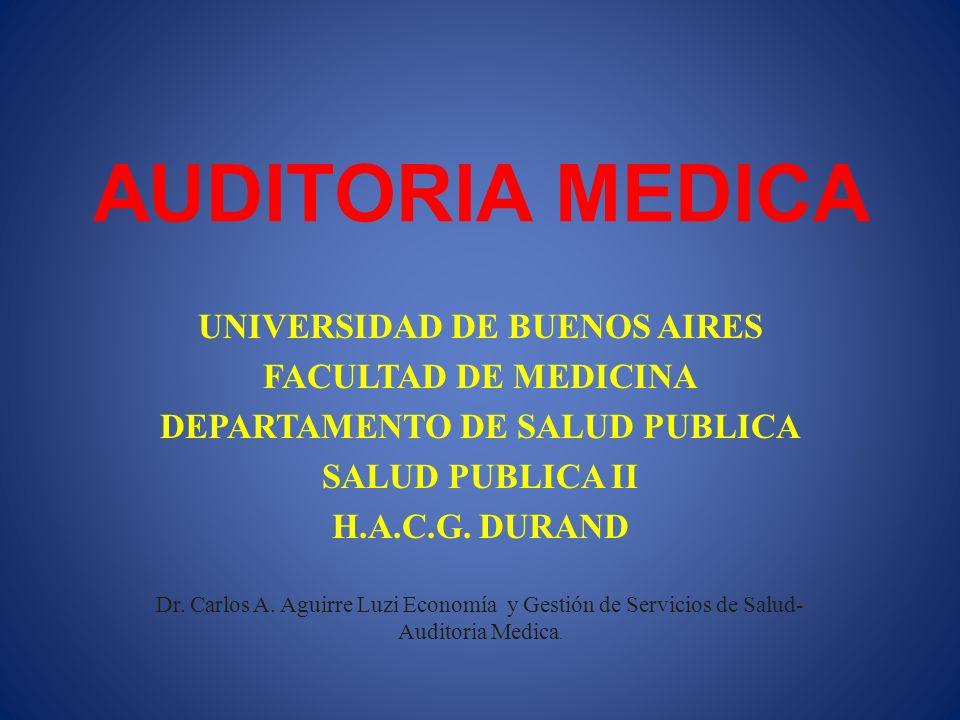 UNIVERSIDAD DE BUENOS AIRES DEPARTAMENTO DE SALUD PUBLICA