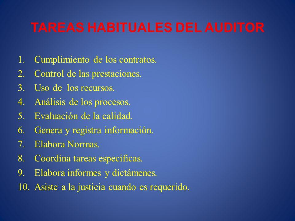 TAREAS HABITUALES DEL AUDITOR