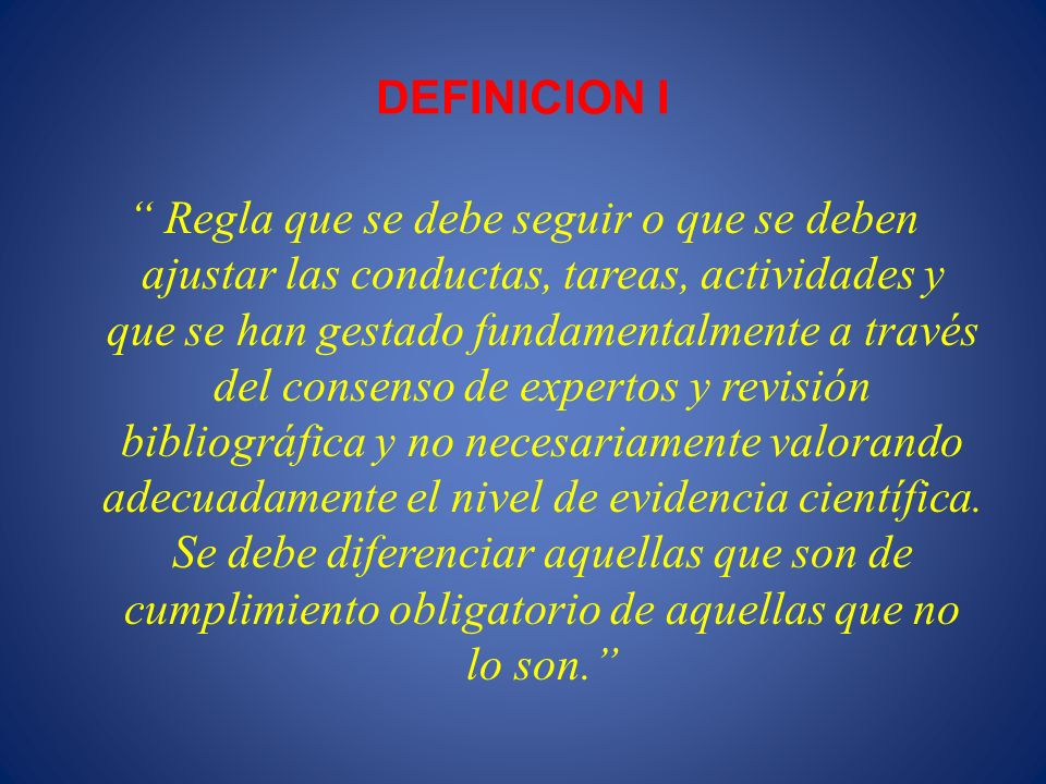 DEFINICION I