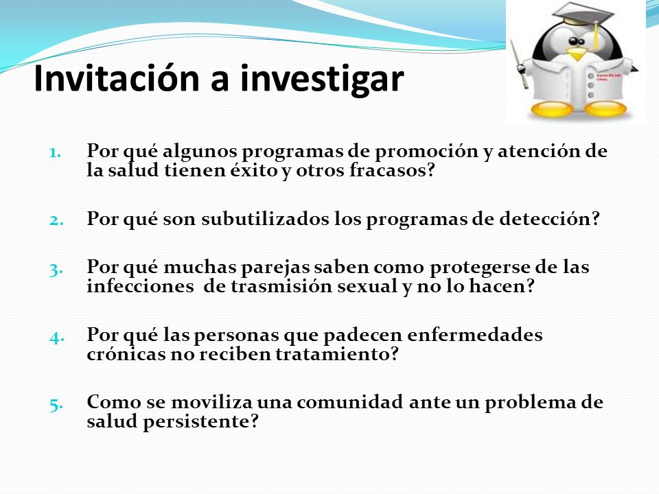 Invitación a investigar