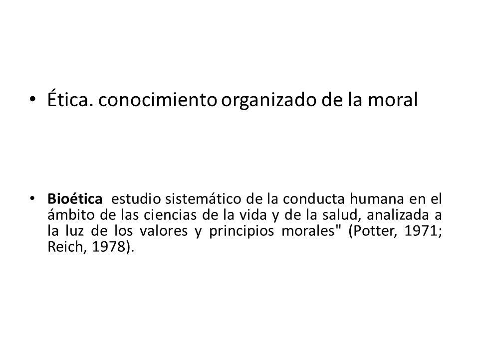 Ética. conocimiento organizado de la moral