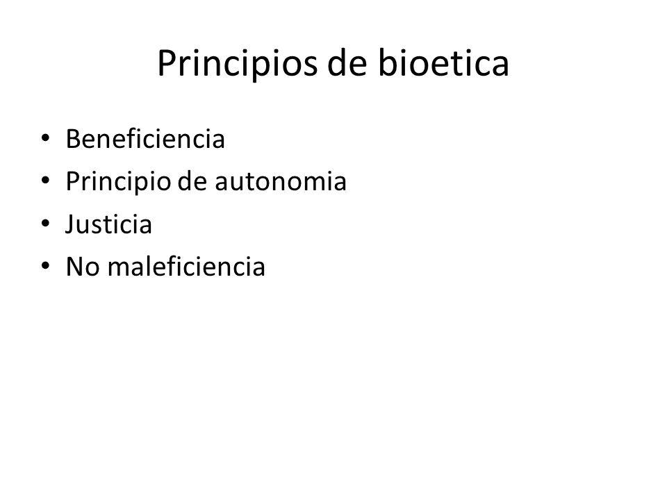 Principios de bioetica