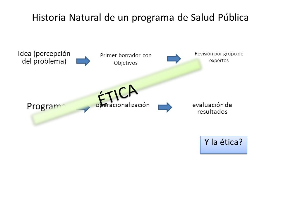 Historia Natural de un programa de Salud Pública