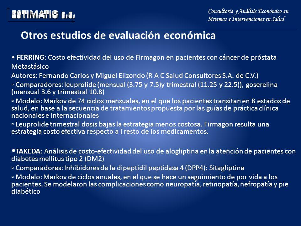 Otros estudios de evaluación económica