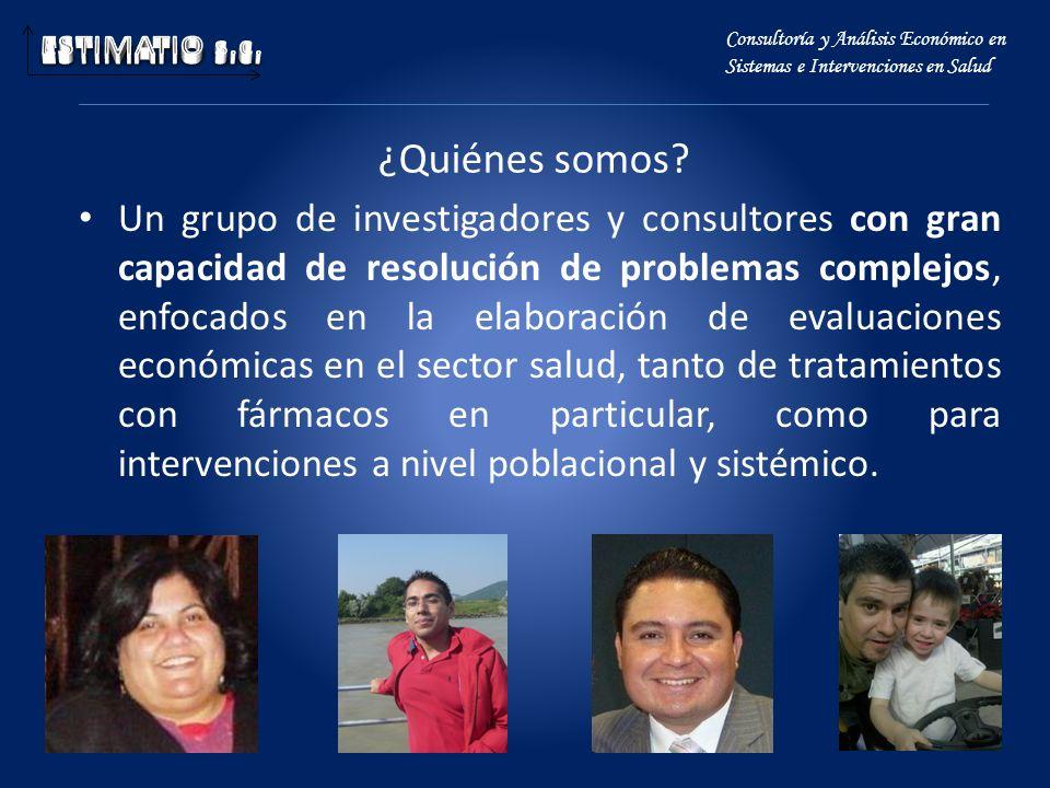 ESTIMATIO s.c. Consultoría y Análisis Económico en Sistemas e Intervenciones en Salud. ¿Quiénes somos