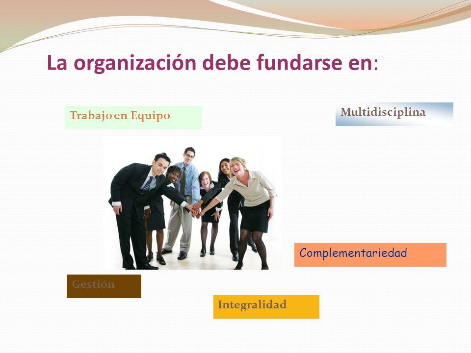 La organización debe fundarse en: