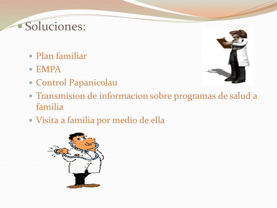 Soluciones: Plan familiar EMPA Control Papanicolau