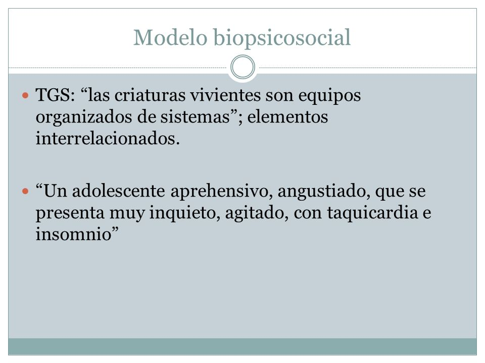 Modelo biopsicosocial