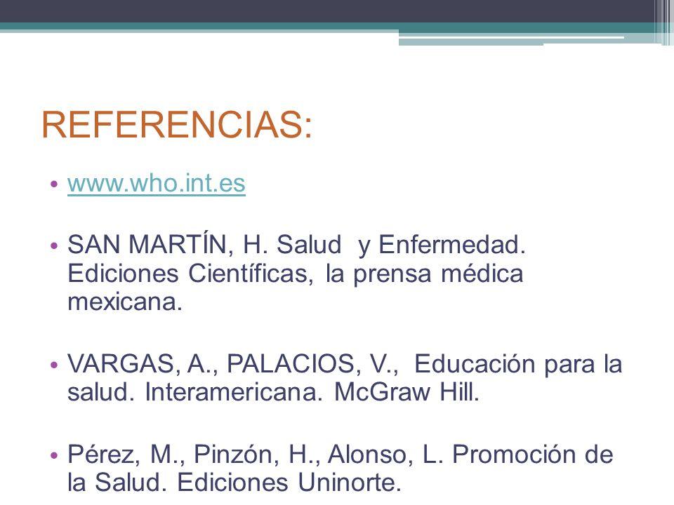 REFERENCIAS: www.who.int.es