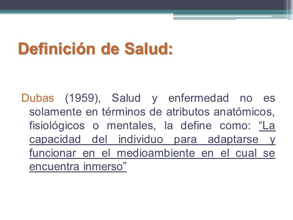 Definición de Salud:
