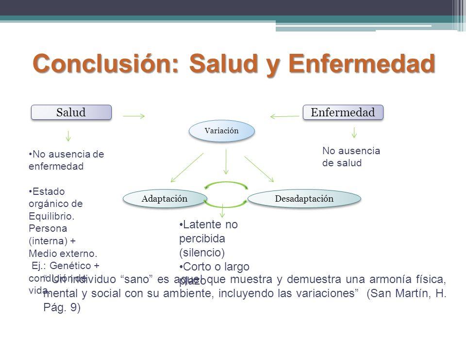 Conclusión: Salud y Enfermedad