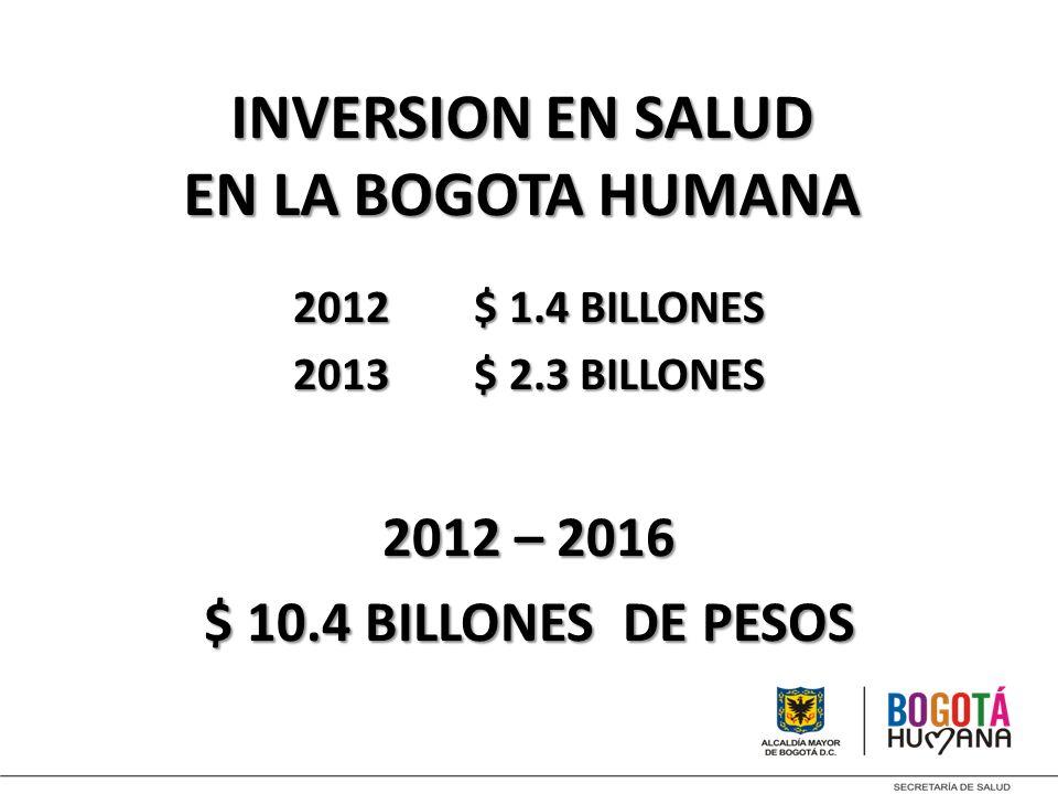 INVERSION EN SALUD EN LA BOGOTA HUMANA