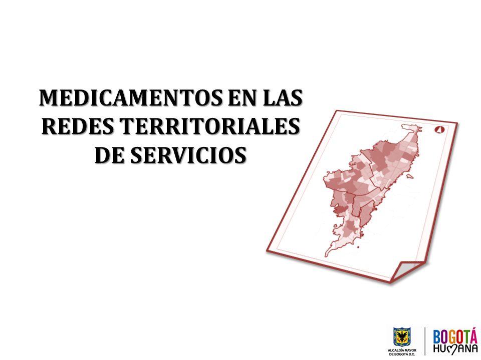 MEDICAMENTOS EN LAS REDES TERRITORIALES DE SERVICIOS