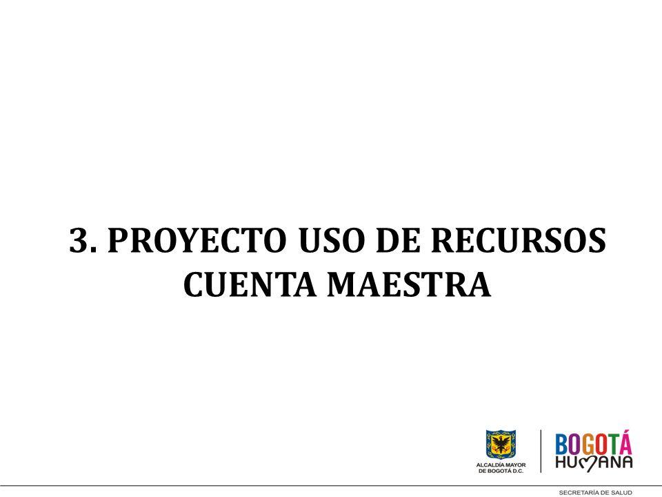 3. PROYECTO USO DE RECURSOS CUENTA MAESTRA