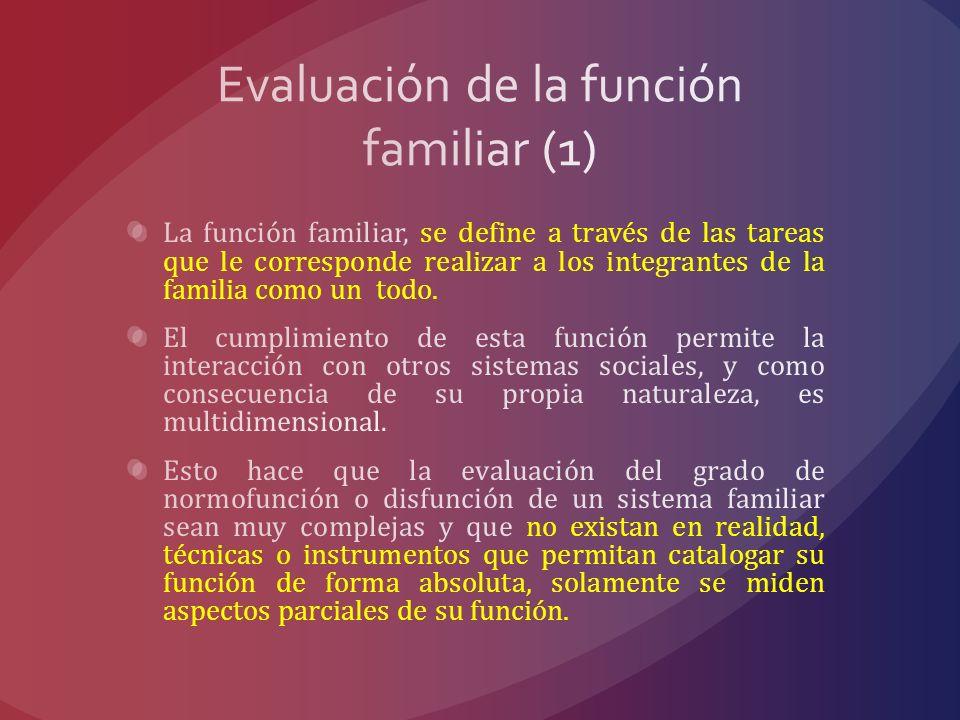 Evaluación de la función familiar (1)