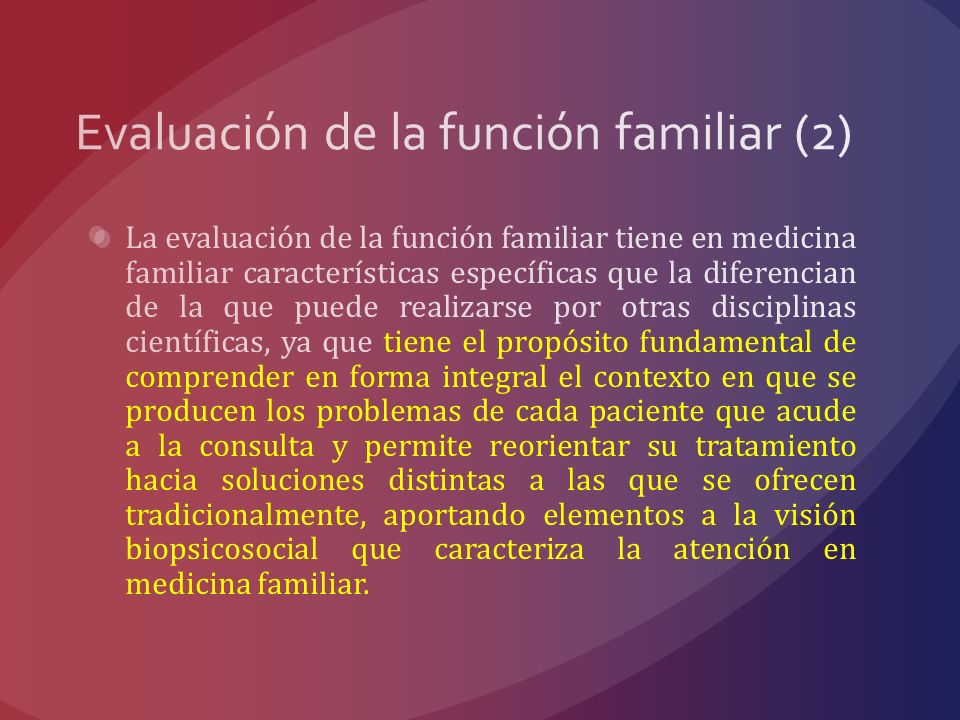 Evaluación de la función familiar (2)