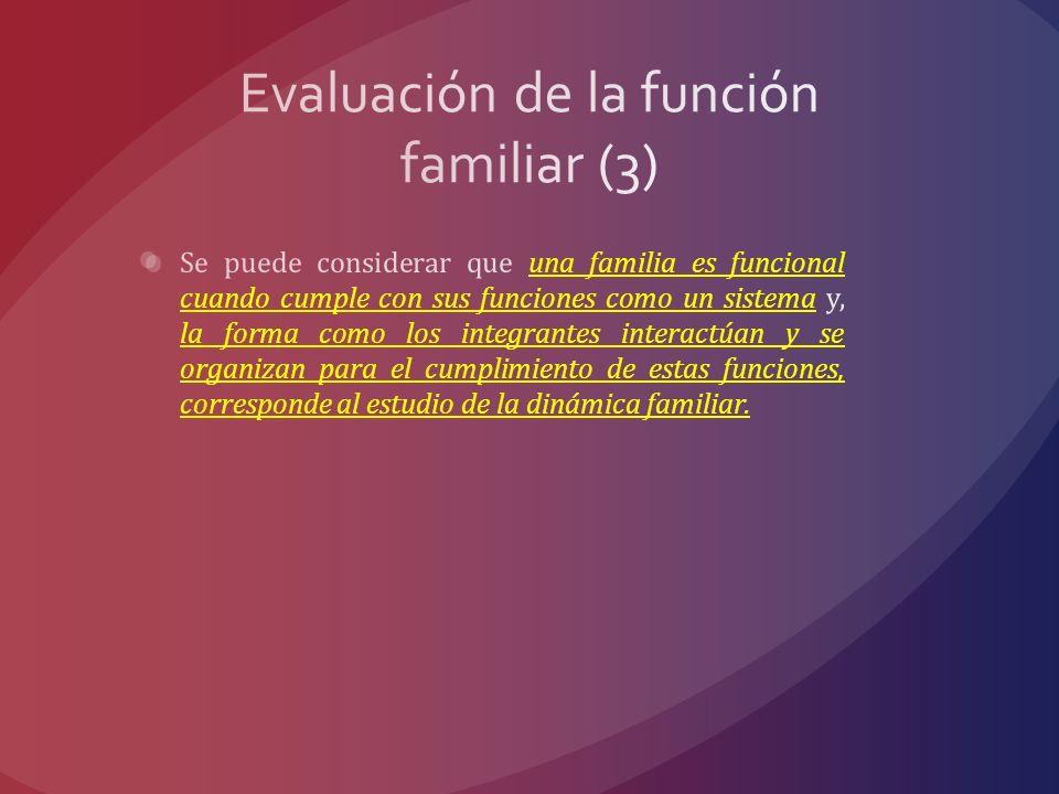 Evaluación de la función familiar (3)