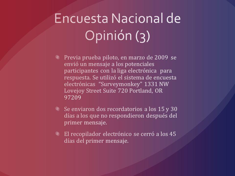 Encuesta Nacional de Opinión (3)