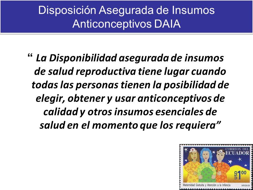 Disposición Asegurada de Insumos Anticonceptivos DAIA