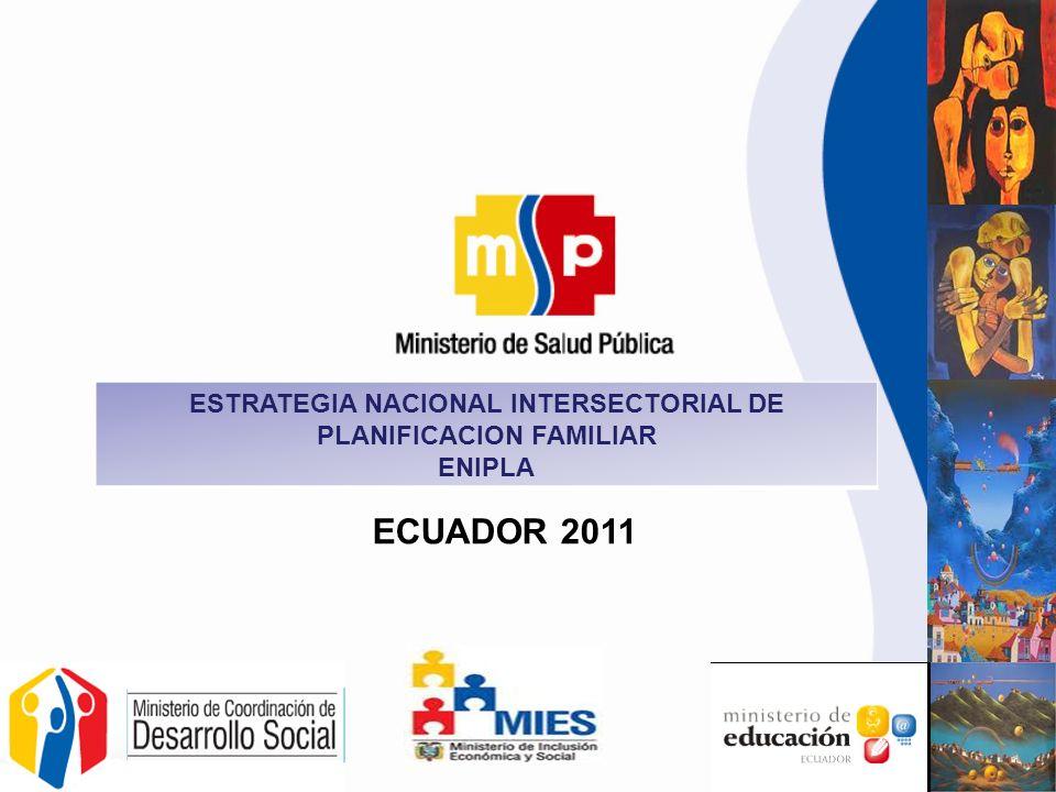 ESTRATEGIA NACIONAL INTERSECTORIAL DE PLANIFICACION FAMILIAR