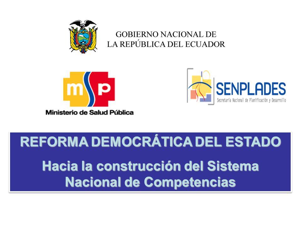 REFORMA DEMOCRÁTICA DEL ESTADO
