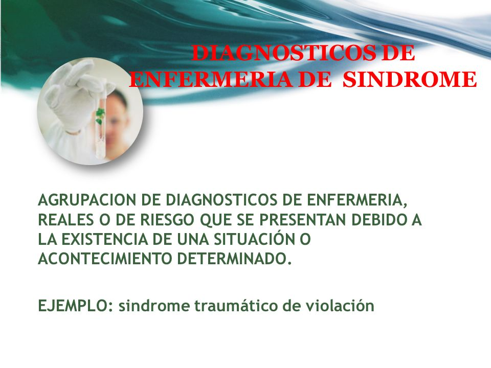 DIAGNOSTICOS DE ENFERMERIA DE SINDROME