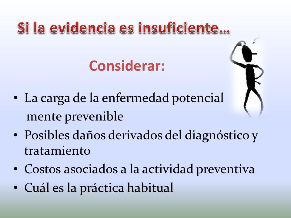 Si la evidencia es insuficiente…