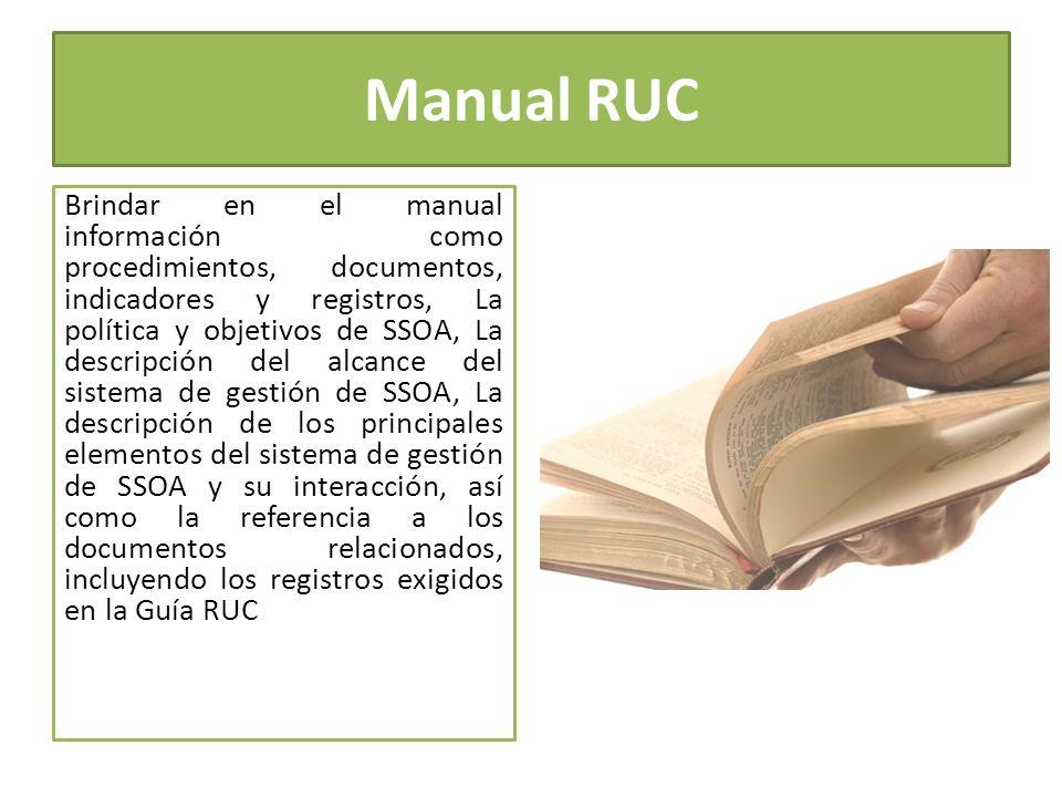 Manual RUC