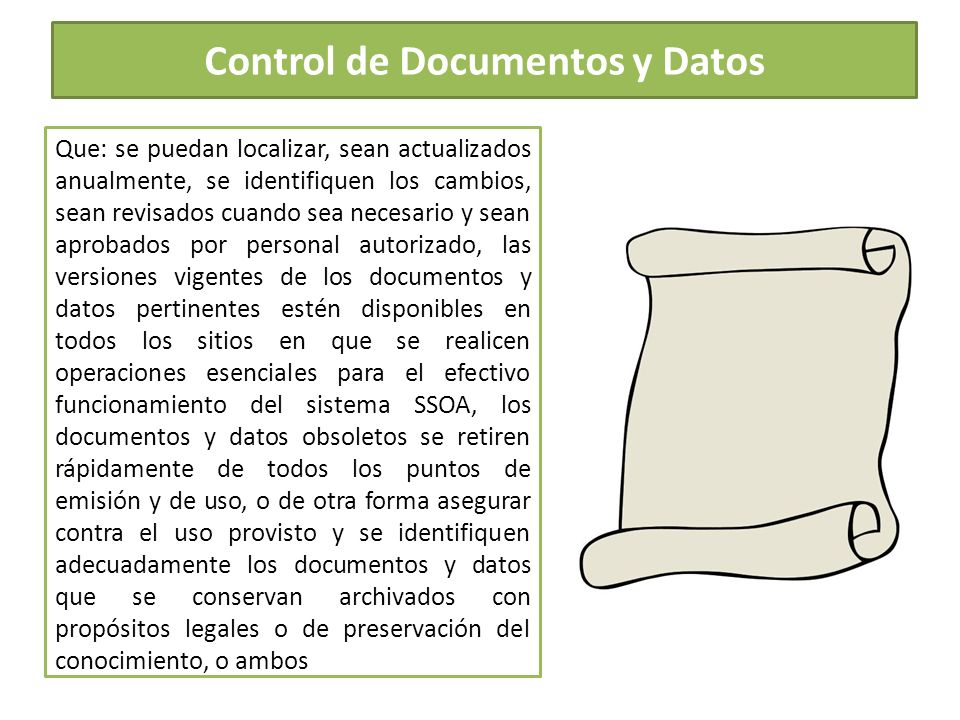 Control de Documentos y Datos