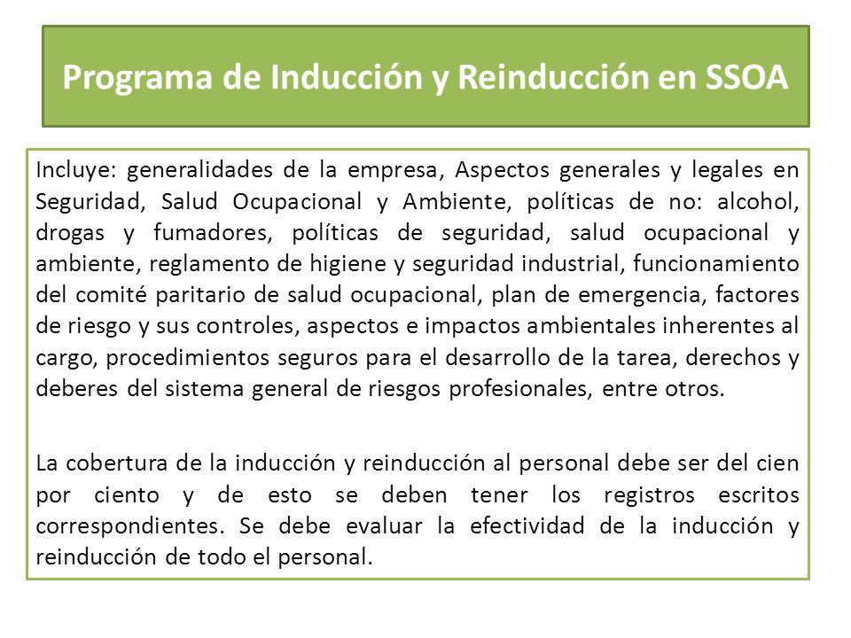 Programa de Inducción y Reinducción en SSOA