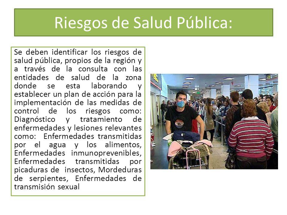 Riesgos de Salud Pública: