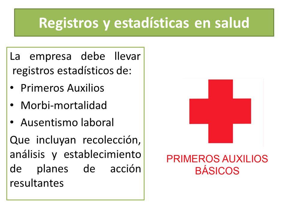 Registros y estadísticas en salud
