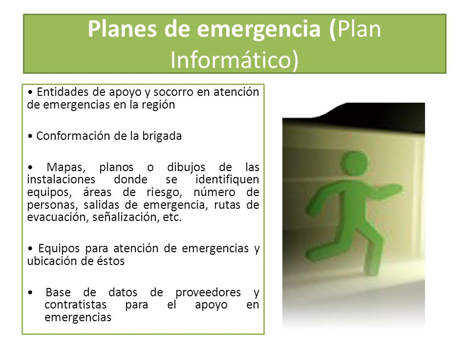 Planes de emergencia (Plan Informático)