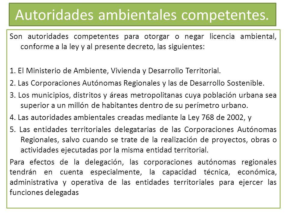 Autoridades ambientales competentes.