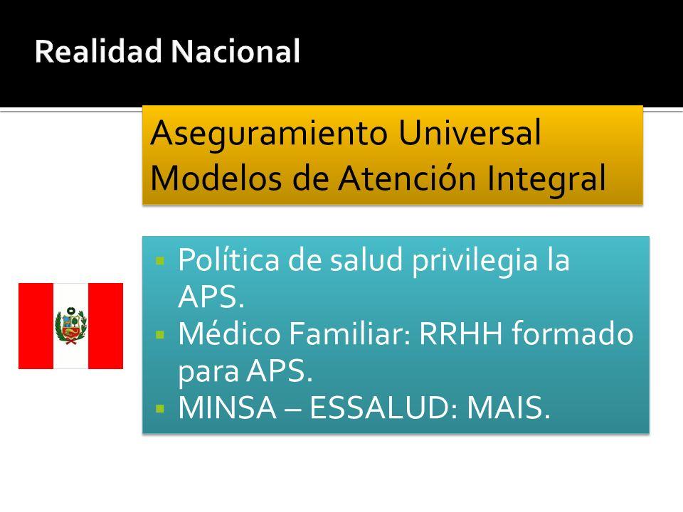 Aseguramiento Universal Modelos de Atención Integral