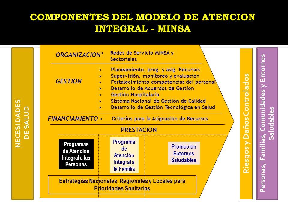 COMPONENTES DEL MODELO DE ATENCION INTEGRAL - MINSA
