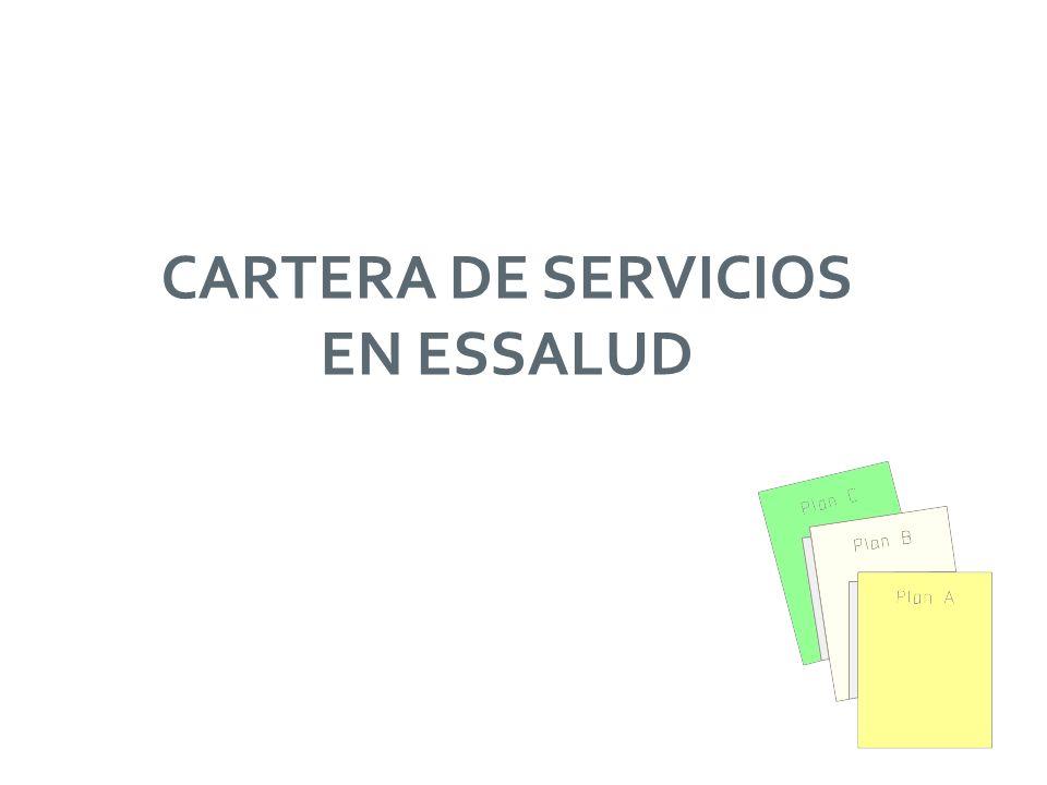 CARTERA DE SERVICIOS EN ESSALUD