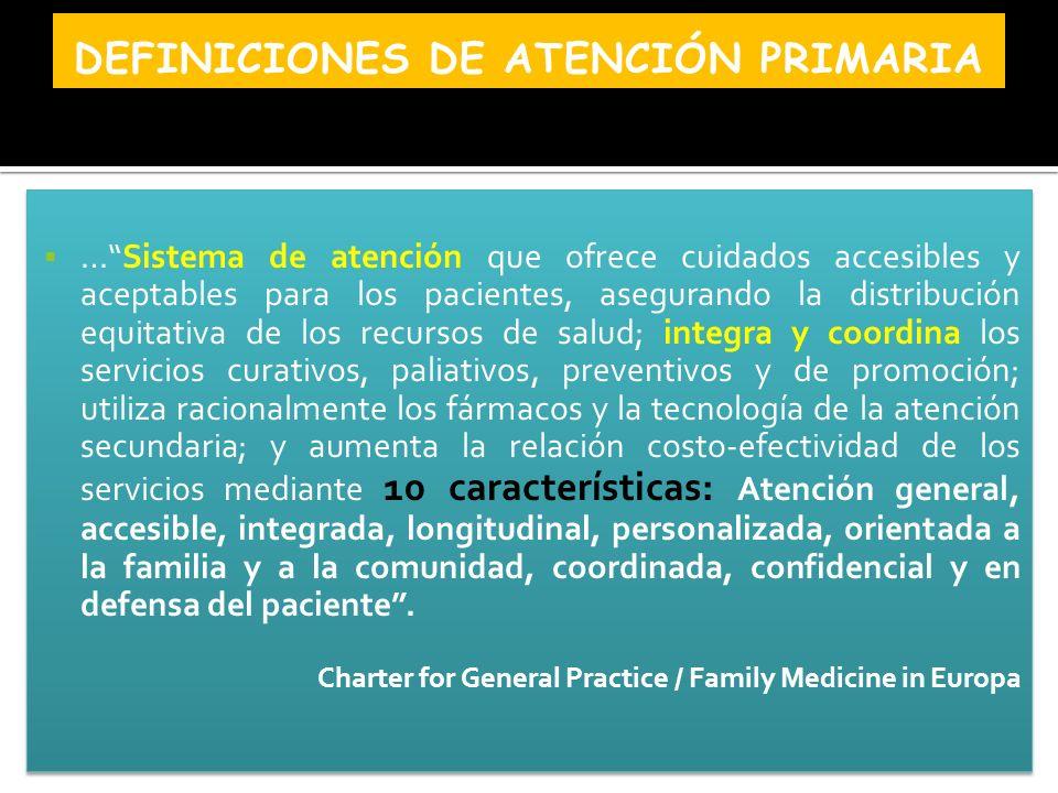 Definiciones de Atención Primaria
