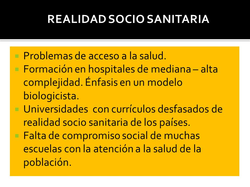 Realidad Socio Sanitaria