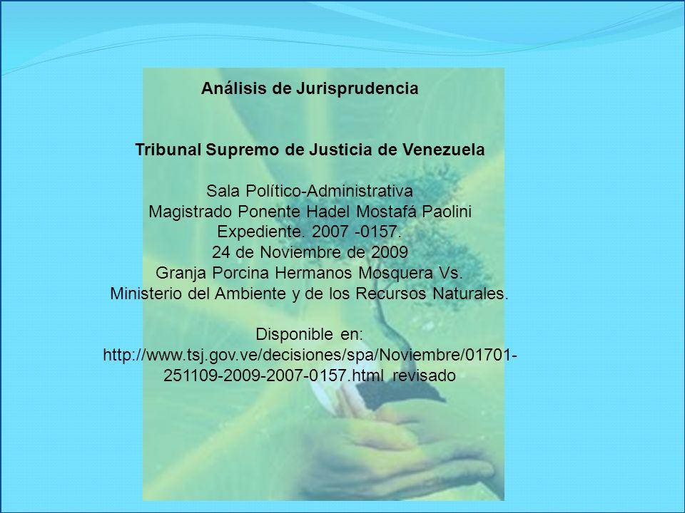 Análisis de Jurisprudencia Tribunal Supremo de Justicia de Venezuela