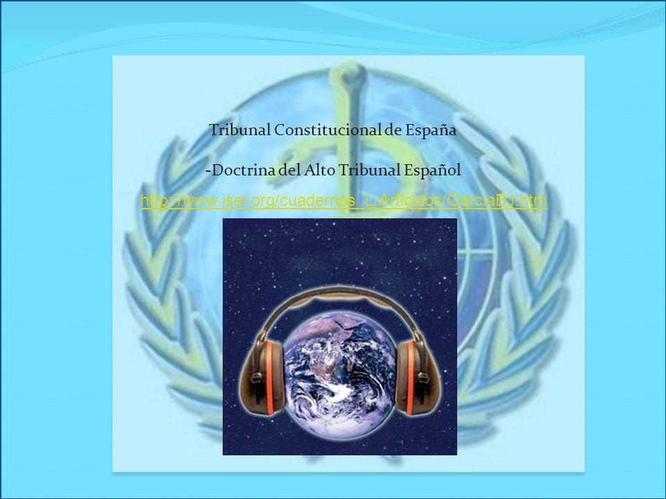 Tribunal Constitucional de España -Doctrina del Alto Tribunal Español