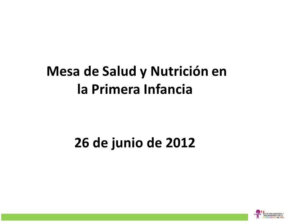 Mesa de Salud y Nutrición en la Primera Infancia