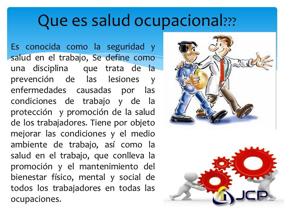 Que es salud ocupacional