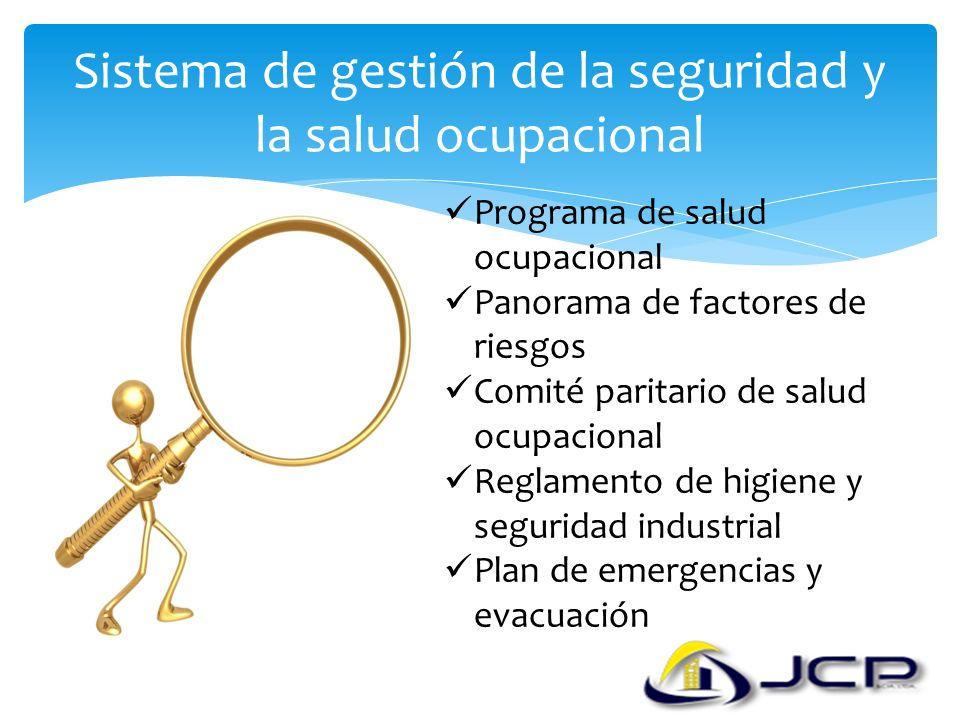Sistema de gestión de la seguridad y la salud ocupacional