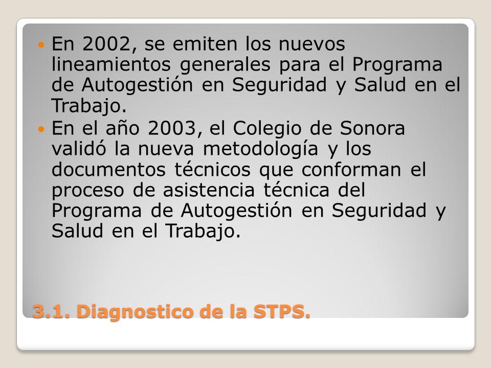 En 2002, se emiten los nuevos lineamientos generales para el Programa de Autogestión en Seguridad y Salud en el Trabajo.