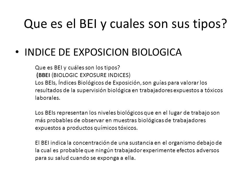 Que es el BEI y cuales son sus tipos